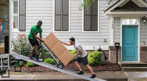 Men loading moving truck